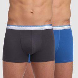 DIM ABSOLU FIT BOXER 2x – Pánské boxerky 2 ks – šedá – modrá