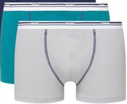 DIM DAILY COLORS BOXER 2x – Pánské boxerky 2 ks – šedá – modrá