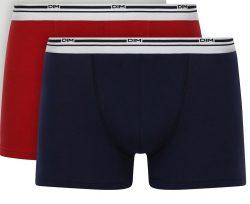 DIM DAILY COLORS BOXER 2x – Pánské boxerky 2 ks – červená – modrá