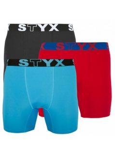 3PACK pánské funkční boxerky Styx vícebarevné