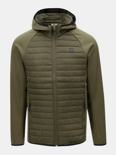 Khaki prošívaná bunda s kapucí Jack & Jones