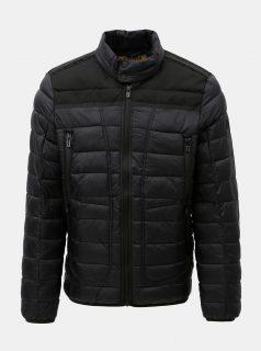Černá pánská prošívaná bunda s.Oliver