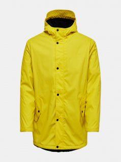 Žlutá  pláštěnka s kapucí ONLY & SONS