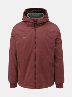 Vínová pánská zimní bunda s kapucí Ragwear