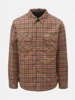 Khaki pánská kostkovaná oboustranná bunda BUSHMAN Falkirk