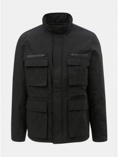 Černá zimní bunda s kapsami Burton Menswear London