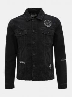 Černá džínová bunda ONLY & SONS