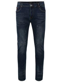 Tmavě modré pánské džíny s vyšisovaným efektem Broadway Ryan