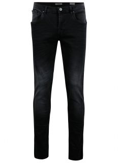Tmavě šedé slim fit džíny s vyšisovaným efektem Blend