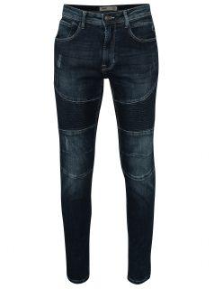 Tmavě modré skinny fit džíny s prošívanými detaily Burton Menswear London