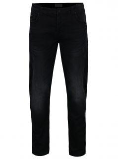 Černé slim fit džíny s vyšisovaným efektem ONLY & SONS Loom
