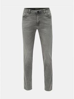 Světle šedé slim džíny Selected Homme Leon