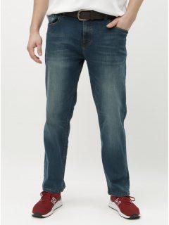 Modré straight džíny s páskem Burton Menswear London