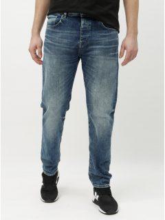 Modré tapered fit džíny Selected Homme Toby