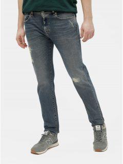 Modré slim džíny s potrhaným efektem Selected Homme Leon