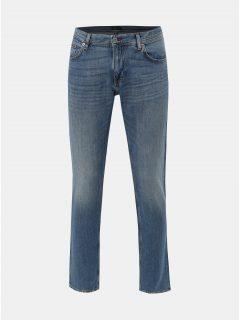 Modré pánské straight fit džíny s příměsí lnu Tommy Hilfiger
