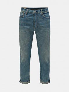 Modré pánské zkrácené tapered fit džíny Levi's® 502