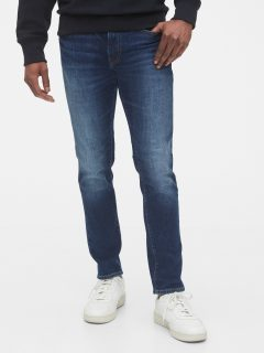 Modré pánské džíny slim taper jeans with GapFlex