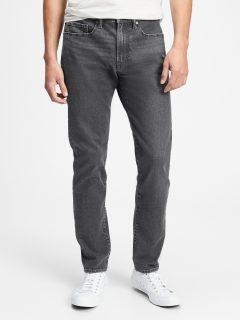 Černé pánské džíny v-slim taper all temp thunder
