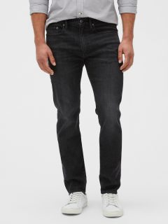Šedé pánské džíny soft wear slim jeans with Washwell GAP