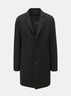 Černý propínací kabát s příměsí vlny Jack & Jones Morten