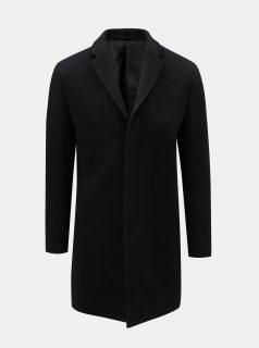 Černý vlněný kabát Selected Homme