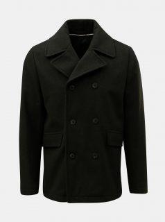 Zelený vlněný kabát Selected Homme New