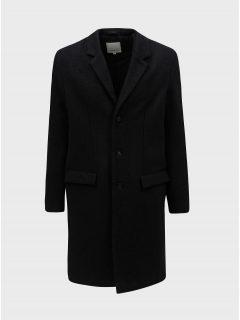 Tmavě šedý vlněný žíhaný kabát Lindbergh