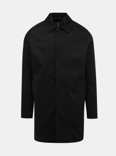 Černý lehký kabát s odnímatelnou vsadkou Selected Homme Ken