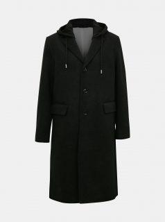 Černý pánský vlněný kabát Diesel