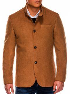 Jarní kabát C427 – hnědý