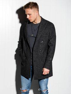 Pánský kabát oversize C429 – černý