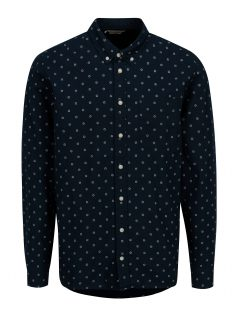 Tmavě modrá vzorovaná slim fit košile Casual Friday by Blend