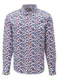 Bílá vzorovaná slim fit košile Casual Friday by Blend