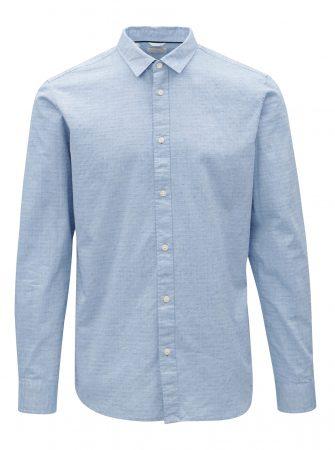 994ff3f63f8 Světle modrá žíhaná slim fit košile Selected Homme Moonie - Pánské ...