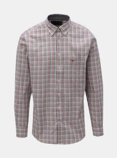 Krémovo-vínová vzorovaná casual fit košile Fynch-Hatton