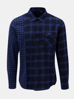 Tmavě modrá kostkovaná regular košile ONLY & SONS