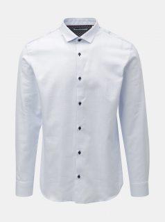 Světle modrá jemně vzorovaná slim fit košile Jack & Jones