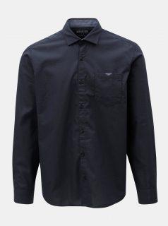 Tmavě modrá pánská puntíkovaná regular fit košile s.Oliver