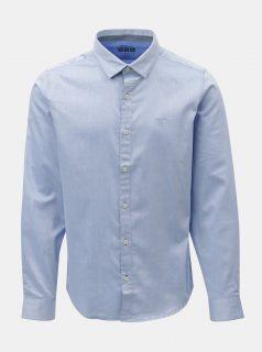 Světle modrá pánská žíhaná slim fit košile s.Oliver
