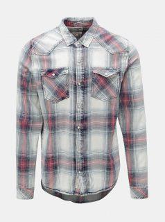 Krémovo-modrá pánská košile Garcia Jeans