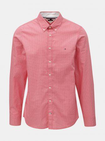2f620e411db Červená pánská slim fit košile Tommy Hilfiger Diamond - Pánské košile