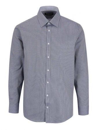 Modrá vzorovaná formální pánská slim fit košile STEVULA - Pánské košile e1a3540a55
