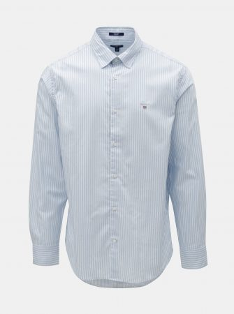 Bílo-modrá pruhovaná regular fit košile s výšivkou GANT - Pánské košile 61bebf14c9