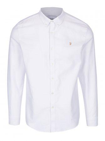 Bílá slim fit košile Farah Brewer - Pánské košile 69bd0b2cf5