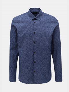 Modrá vzorovaná slim fit košile Selected Homme Neo