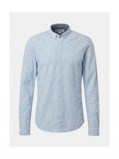 Světle modrá pánská žíhaná košile Tom Tailor Denim
