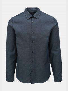 Tmavě modrá vzorovaná regular fit košile Selected Homme Twogreg