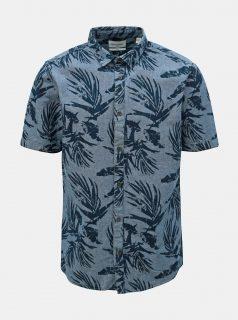 Modrá vzorovaná slim fit košile ONLY & SONS Calton