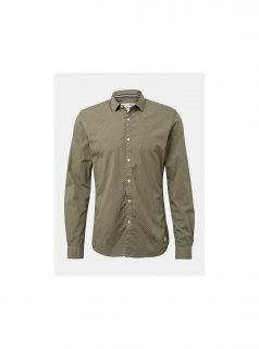 Khaki pánská vzorovaná košile Tom Tailor Denim